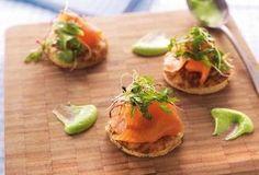 Recept voor Blinis met avocadomousse en gerookte zalm | Solo Open Kitchen