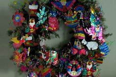 My wreath (with my collection of Mexican tin ornaments.jpg by pfields7, via Flickr