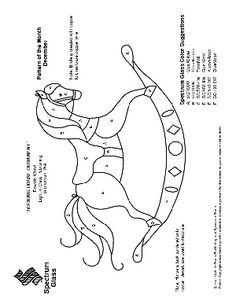 patterns for horse stain glass | free stained glass pattern 2201 rocking horse ornament free stained