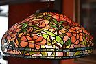 "For Sale - Peony 22"" Tiffany Art Glass Lamp (cone)"