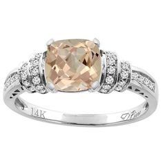Product Specifications  Jewelry Information: Brand World Jewels Metal stamp 14k Metal White gold Material 14K Gold/Diamond/Gold/Morganite Gem Type