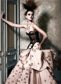 Frida Gustavsson by Patrick Demarchelier - Christian Dior Haute Couture S/S 2010,