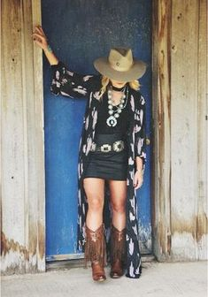 Nfr-ready looks from buckin' wild boutique - cowgirl magazine Rodeo Outfits, Summer Cowgirl Outfits, Cowgirl Style Outfits, Cowgirl Dresses With Boots, Winter Outfits, Country Style Outfits, Country Fashion, Country Dresses, Summer Country Outfits