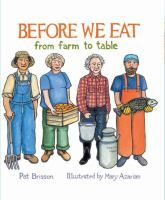 With a few well-chosen words and lots of informative pictures, this lovely book tells the story of the people who work hard to provide food for our meals.