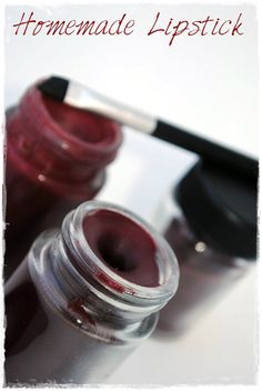 Make your own red lipstick - all natural and chemical free. With only 3 ingredients you can have the perfect red shaded lipstick.