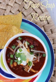 Quick & Easy 30 Minute Taco Soup Recipe