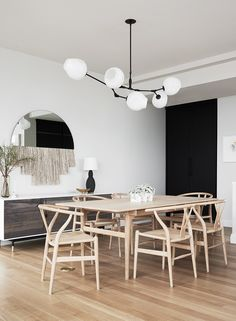 Dining room furniture ideas that are going to be one of the best dining room design sets of the year! Get inspired by these dining room lighting and furniture ideas! Design Furniture, Plywood Furniture, Dining Room Furniture, Dining Rooms, Wood Dining Room Tables, Natural Wood Dining Table, Furniture Ideas, Dining Chairs, Minimalist Dining Room