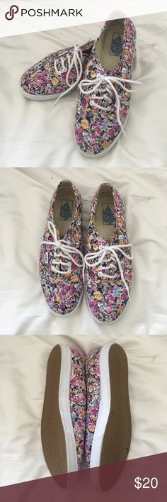 Floral Lo Pro Vans Super cute lo pro vans. Hardly used and has lots of life left Vans Shoes Sneakers