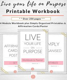 Live your life on purpose workbook and planner simply