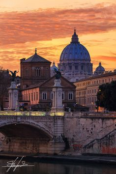 Saint Peter's basilica at sunset by Stefano  Viola on 500px
