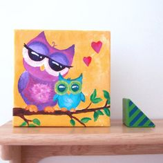 Mama Love Owls.  This is part of my Mama Love series which honors the love between mother and child.