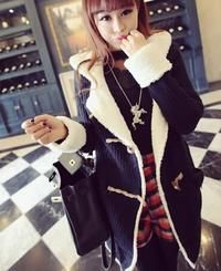 Navy Blue Winter Hooded Coat