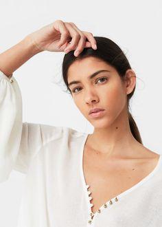 Puffed sleeves blouse | MANGO