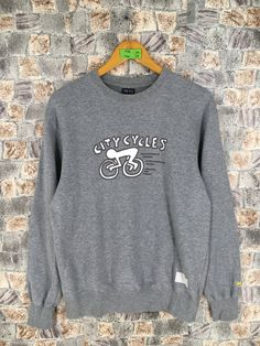 29cfcf4ba KEITH HARING Crewneck Sweatshirt Medium Vintage 90s K. Haring Pop Art City  Cycles Artwork Sweater Andy Warhol Gray Pullover Jumper Size M