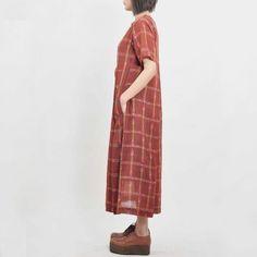 Brown Ikat & Checks Tunic