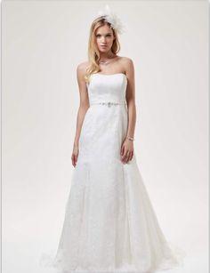Brautkleid Tüll und  Spitze mit Schleppe, Weise Fashion