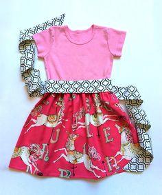 Look at this Alejandra Kearl Designs Pink Carousel Dress