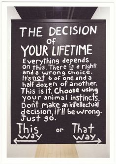 life time decision Miranda July | The Hallway (2008)