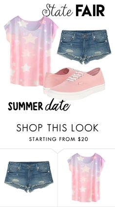 """""""simple And casual"""" by allesamp ❤ liked on Polyvore featuring True Religion, Vans, statefair and summerdate"""
