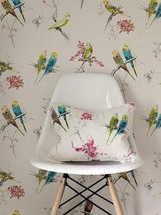 Chirpy by Blendworth: 1950s designed wallpaper
