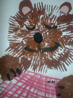 Medvídek pod peřinkou - otiskování vidličky
