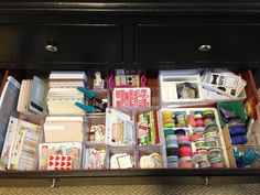 Project life organization -- in the dresser in the foyer which is right by the dining room.  Yes!!!