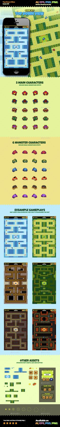 Top Down View Game Kit - Game Kits #Game #Assets | Download http://graphicriver.net/item/top-down-view-game-kit/14811531?ref=sinzo