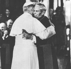 Pope John Paul II and Archbishop Fulton J Sheen