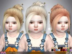 Hairstyle with bun.  Found in TSR Category 'Sims 4 Female Hairstyles'