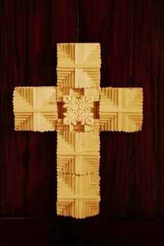 Popsicle Stick Cross  •  Free tutorial with pictures on how to make a recycled model in under 50 minutes