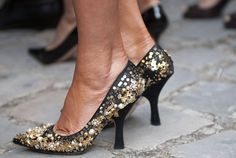 These glittery heels have walked right out of our dreams.