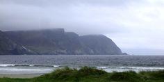 Minaun Cliffs at the end of a sandy beach. #ireland #travel