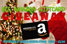 Enter to win a $25 Amazon Gift Card Giveaway | Holiday Gift Guide #HolidayGiftGuide | Ends 11/30 US only!