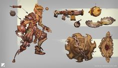 """""""Shipwreck Junkrat skin concept just for fun. Character Concept, Character Art, Concept Art, Character Design, Armor Concept, Junkrat Skins, Overwatch Skin Concepts, Junkrat And Roadhog, All Types Of Games"""