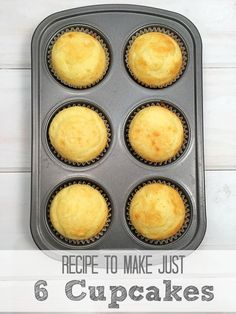 Recipe for 6 cupcakes! How you make just 6 cupcakes using boxed cake mix, so easy & we do it all the time now! mixupamoment ad