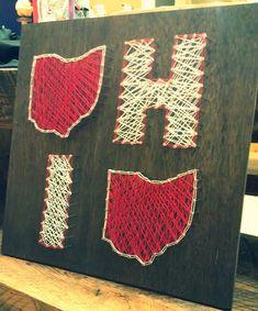OHIO Ohio O Ohio State Pride String Art 16x16 by Trash2Treasure83, $60.00