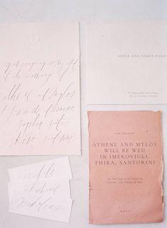 Pink & red wedding ideas on the island of Santorini via Magnolia Rouge