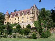 French Chateau for sale in 24 - Dordogne , Aquitaine France. This elegant chateau overlooks the valley and river from its hillside position on a protected historical site. Built on older foundations, this beautifully maintained Renaissance property has mullioned windows, a round tower and a corbelled tower, and is surrounded by an estate of 19 hectares with a remarkable view over the valley. Price on application.