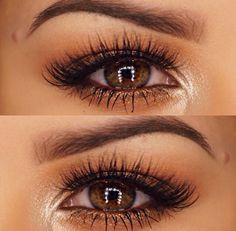 Warm neutral eye makeup
