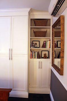 ikea cabinets with customized doors, master bedroom closet idea