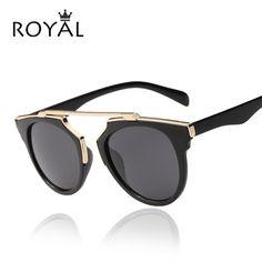 High quality women brand designer sunglasses round mirrored shades cat eye glasses ss206 | worth buying on AliExpress