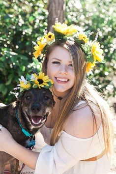 Senior pictures with dog Photo by Heidi K Borden