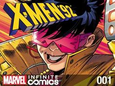 """X-Men '92 Infinite Comic #1: Everyone's favorite version of the X-Men from the '90s is back! When Baron Kelly charges the Clear Mountain Project and it's mysterious new director with """"mutant rehabilitation,"""" it's up to the X-Men to investigate! PLUS: Free Range Sentinels?!?"""