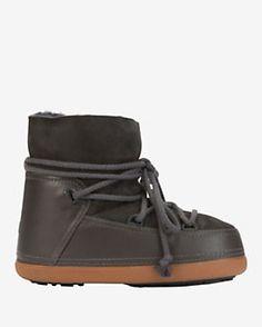 IKKII Classic Shearling Lined Moon Boot: Grey