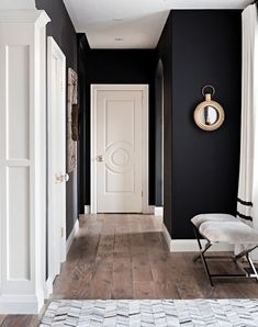 Test some unexpected colors on your wall and leave it for a week to see if there is one in particular you are drawn to. For more feature wall inspiration read our journal post! Hot Pink Room, Black Feature Wall, Inspiration Wand, White Walls, Black Walls, Entryway Decor, Entryway Ideas, Your Space, Journal
