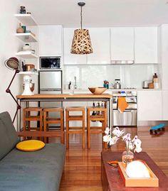 ... Apartamento Criatividade, Cozinhas Cocinas, Diy Departamento, Kitchen  Beach, Lounge Kitchen, Whitu0027s Apartment, Tiny Kitchen Living Room Combo Part 56