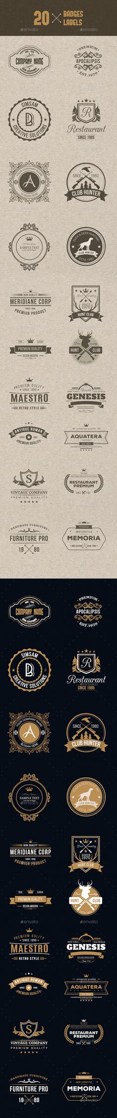 Mega Bundle  Logos And Badges By Designdistrict HttpCrtv
