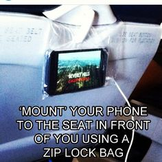Great air travel tip for when you're watching movies. http://instagram.com/p/jDfSjhJ69a/