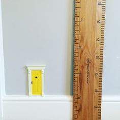 Love this fairy door and wooden ruler height chart in the girls playroom.  Fairy door is from The Magic Door Store and Ruler is from The Real Ruler Height Chart Company  Find more fun ideas here:     http://www.3littleladiesandme.com/2017/01/ideas-for-fun-and-functional-playroom.html