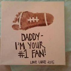 Father's Day footprint art - #1 fan